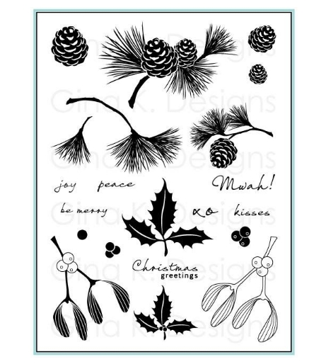 Gina K Designs FESTIVE FOLIAGE Clear Stamps 1103 zoom image