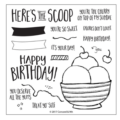 Concord & 9th HERES THE SCOOP Clear Stamp Set 10246* Preview Image