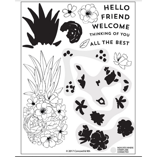 Concord & 9th PINEAPPLE PERFECTION Clear Stamp Set 10249 Preview Image