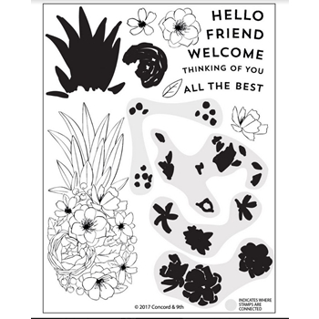 Concord & 9th PINEAPPLE PERFECTION Clear Stamp Set 10249