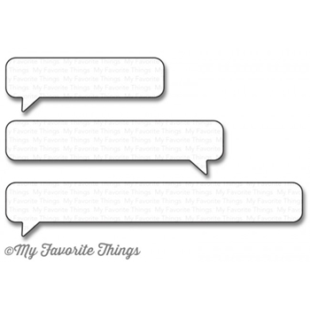 My Favorite Things ESSENTIAL SPEECH BUBBLES Die-Namics MFT1159