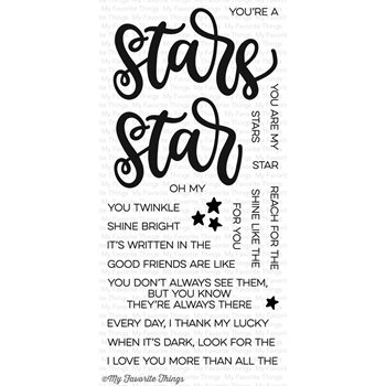 My Favorite Things WRITTEN IN THE STARS Clear Stamps CS120