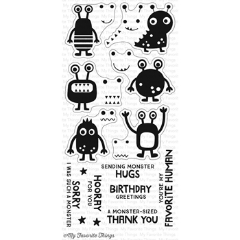 My Favorite Things MORE MONSTERS Clear Stamps CS222