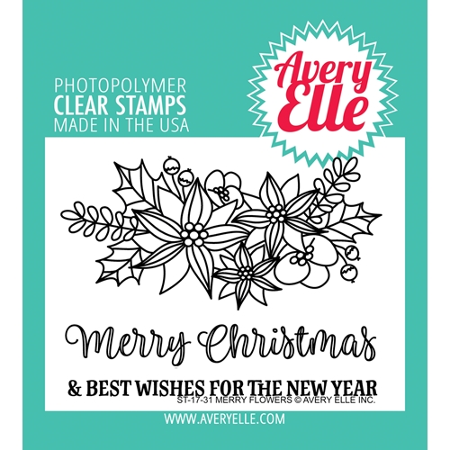 Avery Elle Clear Stamps MERRY FLOWERS  Preview Image