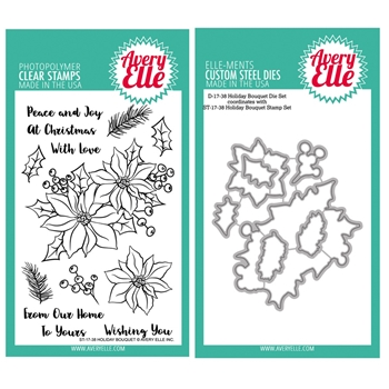 Avery Elle Clear Stamp and Die SETHBQAE Holiday Bouquet SET