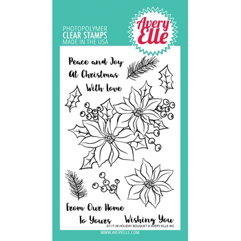 Avery Elle Clear Stamps HOLIDAY BOUQUET
