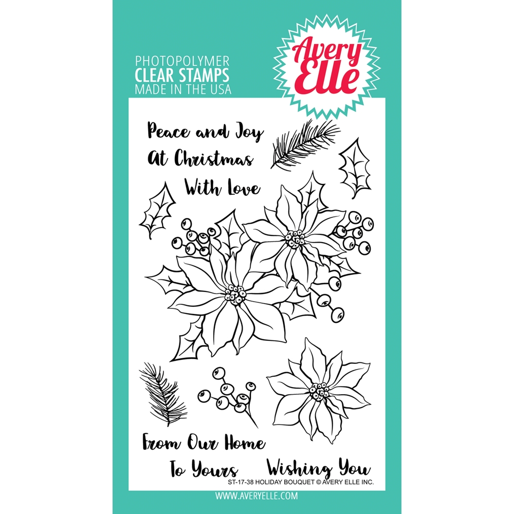 Avery Elle Clear Stamps HOLIDAY BOUQUET  zoom image