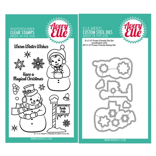 Avery Elle Clear Stamp and Die SETFRFAE Frosty Friends SET Preview Image