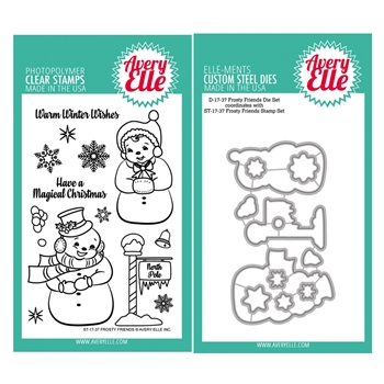 Avery Elle Clear Stamp and Die SETFRFAE Frosty Friends SET
