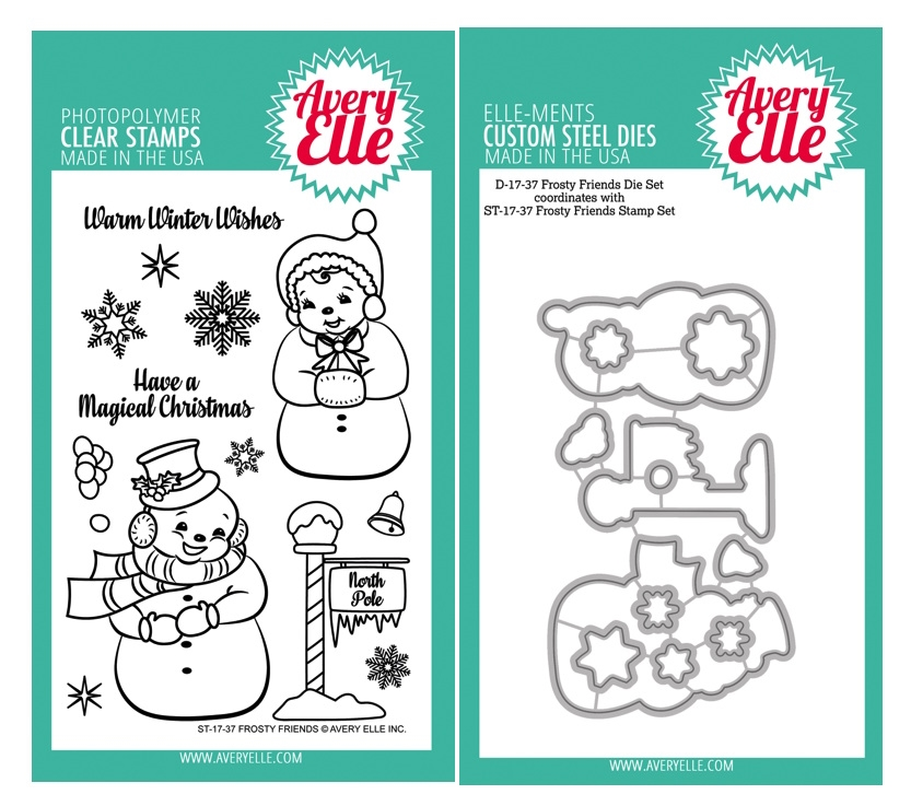 Avery Elle Clear Stamp and Die SETFRFAE Frosty Friends SET zoom image
