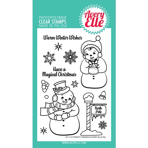 Avery Elle Clear Stamps FROSTY FRIENDS ST-17-37  Preview Image