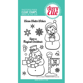 Avery Elle Clear Stamps FROSTY FRIENDS