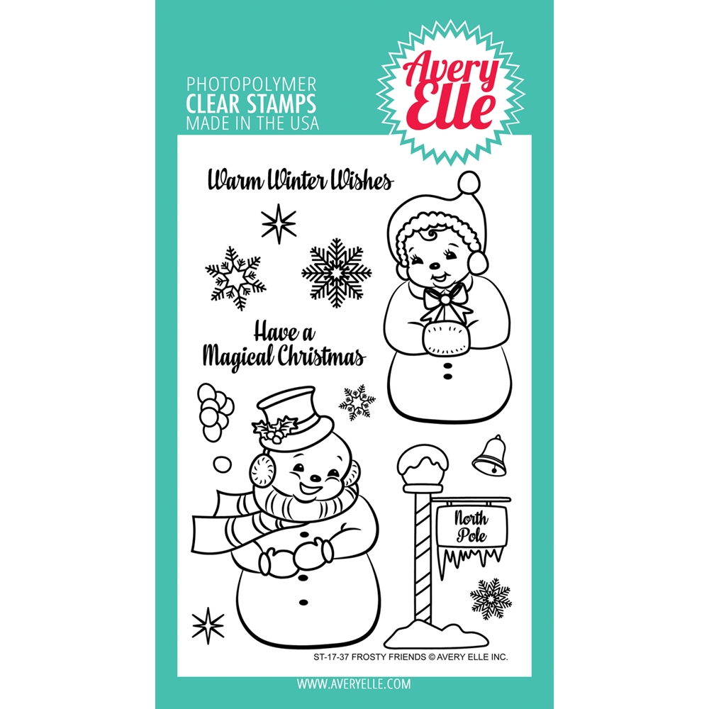 Avery Elle Clear Stamps FROSTY FRIENDS ST-17-37  zoom image