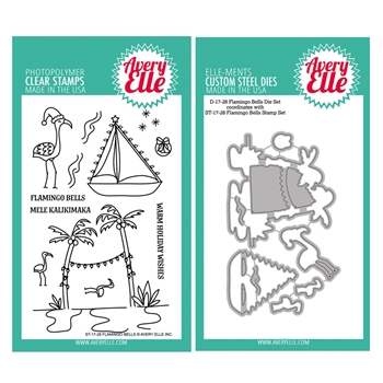 Avery Elle Clear Stamp and Die SETFBEAE Flamingo Bells SET