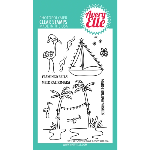Avery Elle Clear Stamps FLAMINGO BELLS  Preview Image