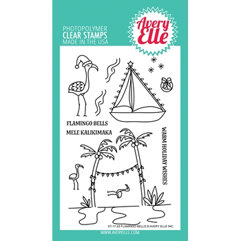 Avery Elle Clear Stamps FLAMINGO BELLS