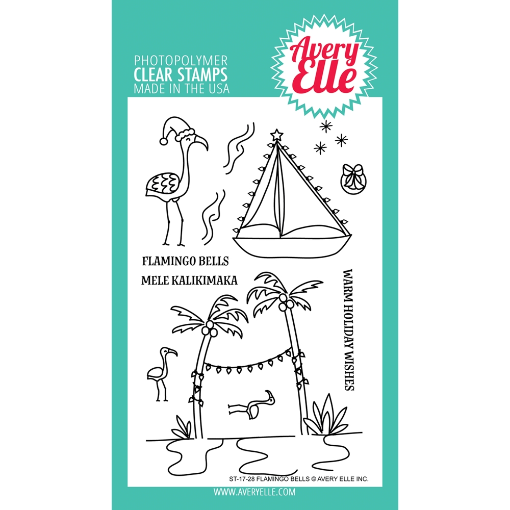 Avery Elle Clear Stamps FLAMINGO BELLS  zoom image