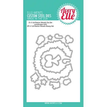 Avery Elle Steel Dies FESTIVE WREATH Die Set