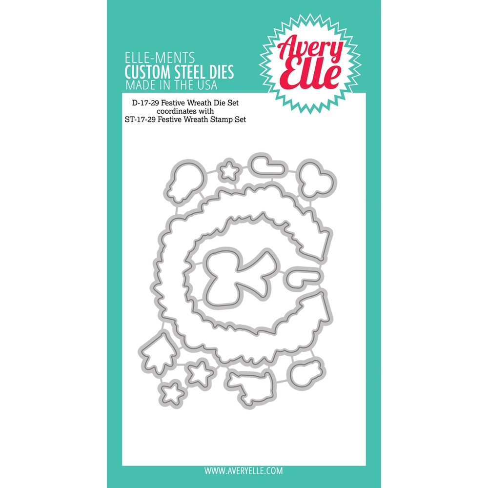 Avery Elle Steel Dies FESTIVE WREATH Die Set zoom image