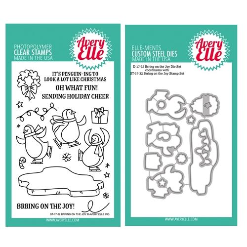 Avery Elle Clear Stamp and Die SETBRRAE Brring on the Joy SET Preview Image