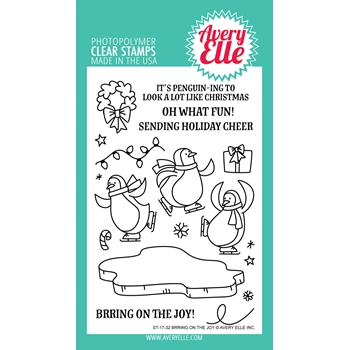 Avery Elle Clear Stamps BRRING ON THE JOY