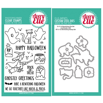 Avery Elle Clear Stamp and Die SETBWTAE Bewitching SET