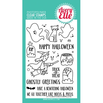 Avery Elle Clear Stamps BEWITCHING *