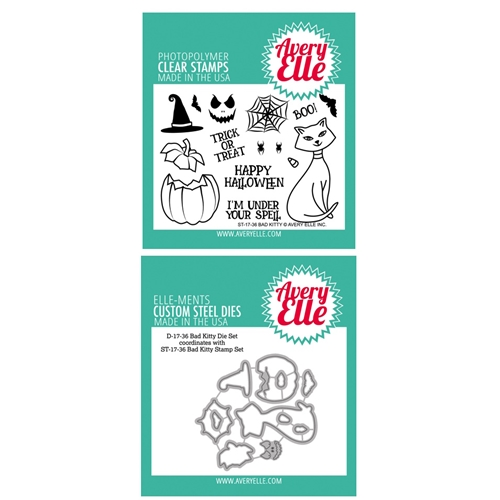 Avery Elle Clear Stamp and Die SETBKAE Bad Kitty SET Preview Image