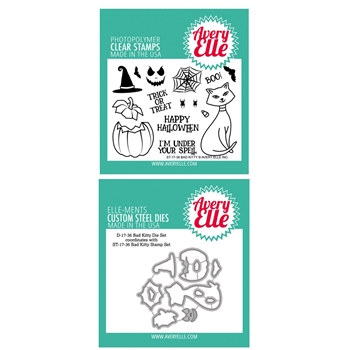 Avery Elle Clear Stamp and Die SETBKAE Bad Kitty SET