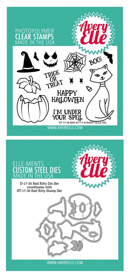 Avery Elle Clear Stamp and Die SETBKAE Bad Kitty SET zoom image