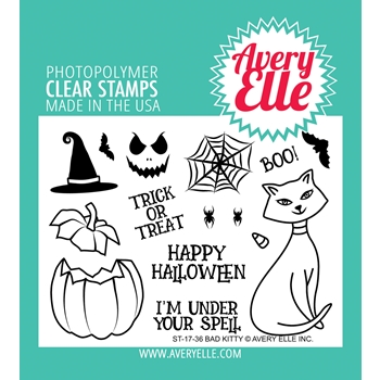 Avery Elle Clear Stamps BAD KITTY