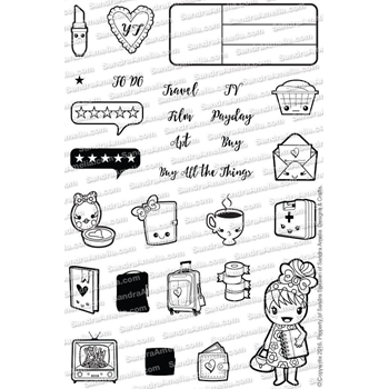 The Sassy Club MINI DOODLES Clear Stamp TSCL003