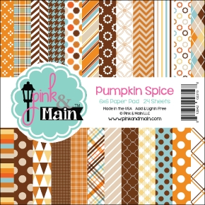 Pink and Main 6x6 PUMPKIN SPICE Paper Pad
