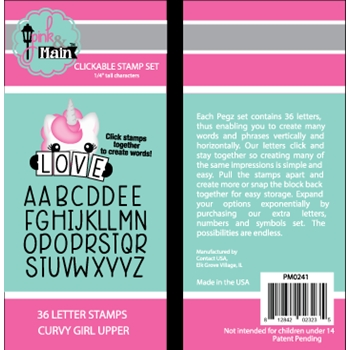 Pink and Main Clickable Stamp Set CURVY GIRL UPPER PM0241