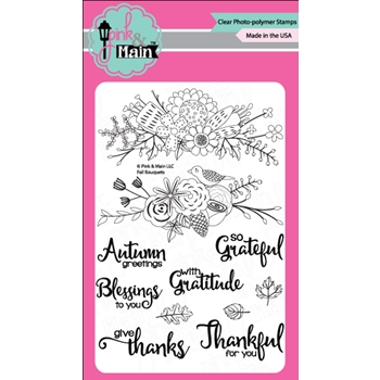 Pink and Main FALL BOUQUET Clear Stamp Set 023297