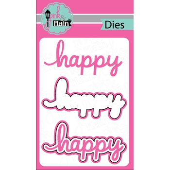 Pink and Main HAPPY Die Set 023280