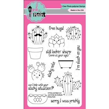 Pink and Main STICKY NOTES Clear Stamp Set 023358