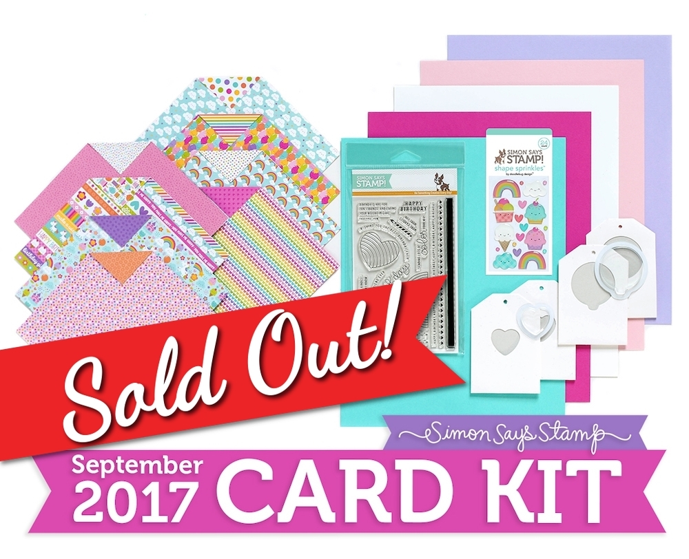 Simon Says Stamp Card Kit of The Month SEPTEMBER 2017 BEST BIRTHDAY CK0917 zoom image