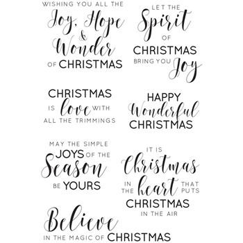 Kaisercraft TRADITIONAL SENTIMENTS Christmas Clear Stamps CS313