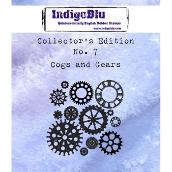 IndigoBlu Cling Stamp COGS AND GEARS Collectors Edition No. 7 Rubber IND0360