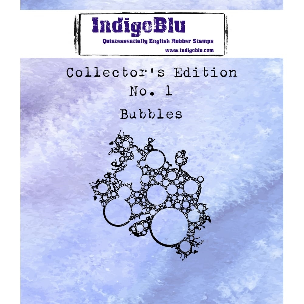 IndigoBlu Cling Stamp BUBBLES Collectors Edition No. 1 Rubber IND0329 zoom image