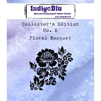 IndigoBlu Cling Stamp FLORAL BOUQUET Collectors Edition No. 8 Rubber IND0361
