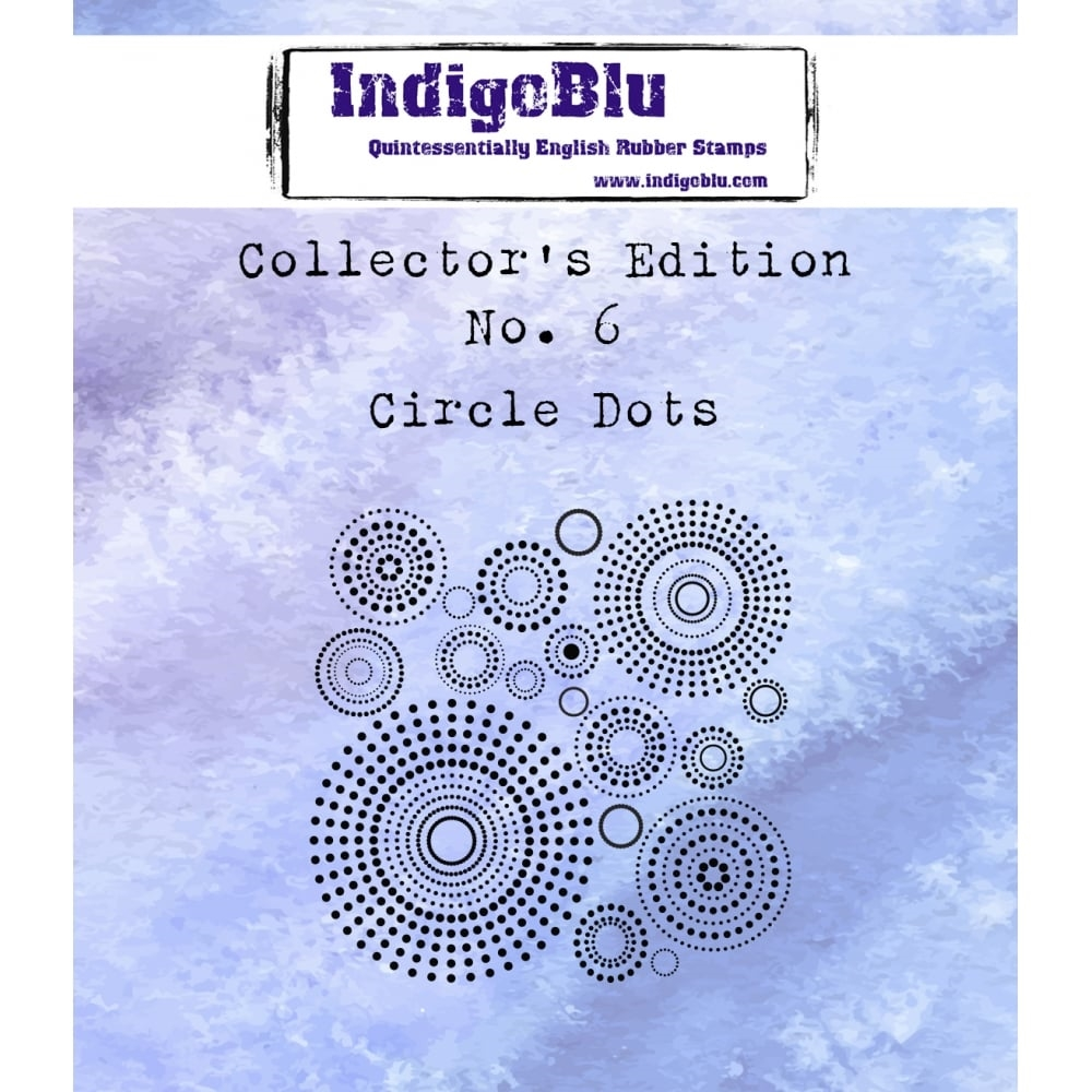 IndigoBlu Cling Stamp CIRCLE DOTS Collectors Edition No. 6 Rubber IND0359 zoom image