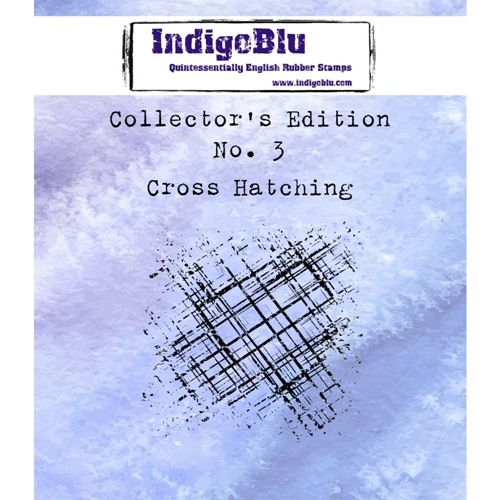 IndigoBlu Cling Stamp CROSS HATCHING Collectors Edition No. 3 Rubber IND0331* Preview Image
