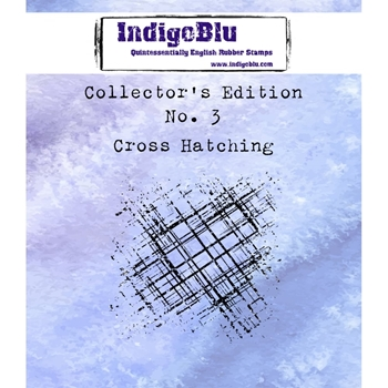 IndigoBlu Cling Stamp CROSS HATCHING Collectors Edition No. 3 Rubber IND0331*