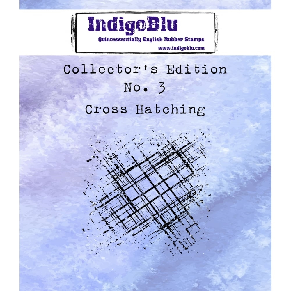 IndigoBlu Cling Stamp CROSS HATCHING Collectors Edition No. 3 Rubber IND0331* zoom image