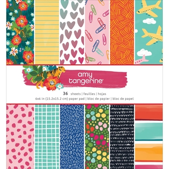 American Crafts Amy Tangerine HUSTLE AND HEART 6x6 Inch Paper Pad 341883