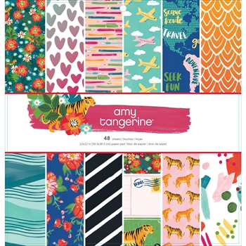 American Crafts Amy Tangerine HUSTLE AND HEART 12x12 inch Paper Pad 341882