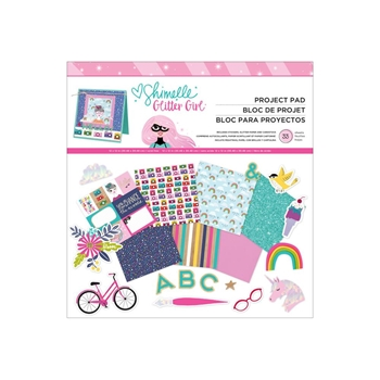 American Crafts Shimelle 12x12 Inch PROJECT PAD Glitter Girl 343657