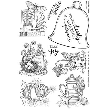 Power Poppy UNDER GLASS Abundance Clear Stamp Set PPJUL1705